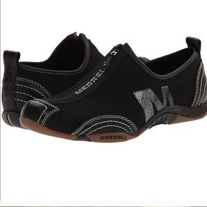 Merrell Barrado Black Performance Slip On Shoes 8